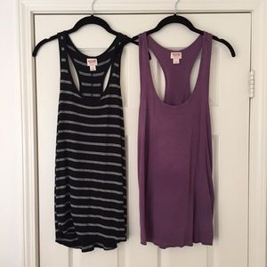 Pair of Racer Back Mossimo Tank Tops